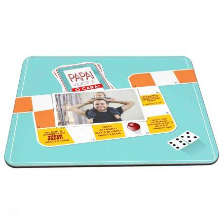 Mouse Pad Personalizado Papai Você É O Cara Jogo de Tabuleiro