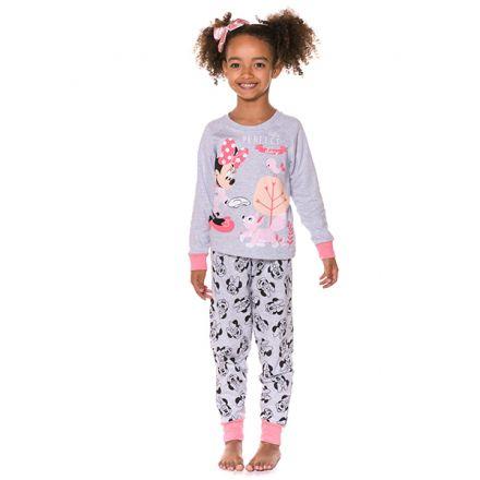 Pijama Moletinho Infantil Manga Longa Minnie