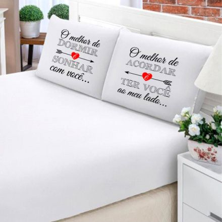 Jogo de Cama Casal Personalizado O Melhor de Dormir 3 Peças FR0209