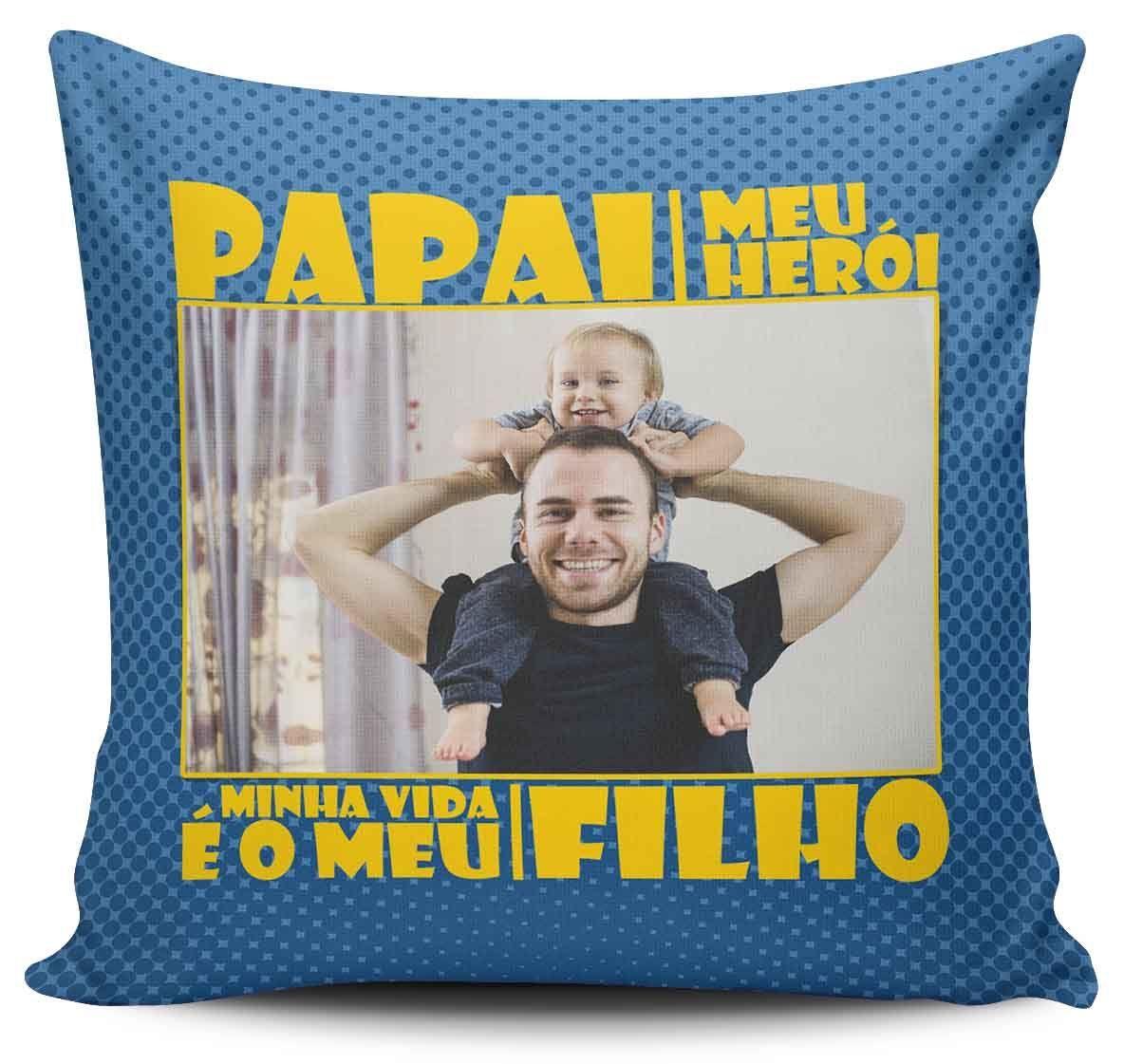 e4d933eda572 Almofada Papai Meu Herói - Empório Camiseteria