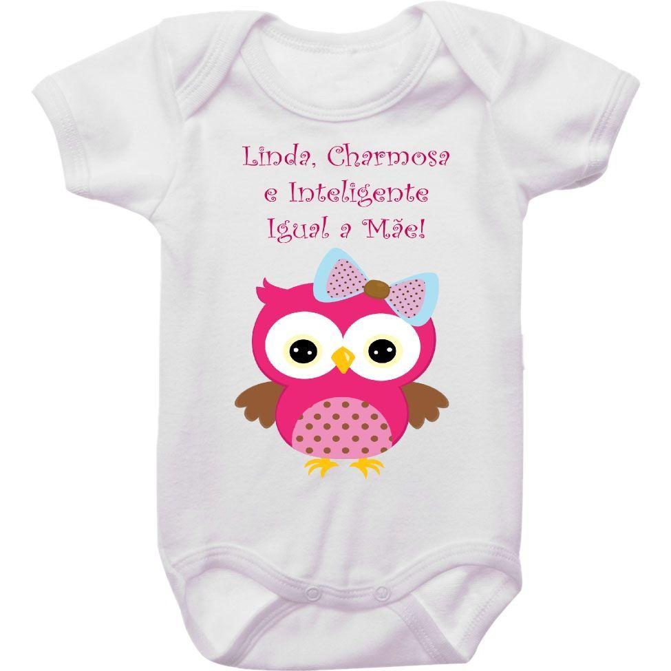 Body Bebê Charmosa e Inteligente Igual a Mamãe