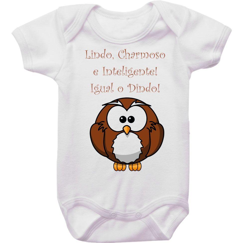 Body Bebê Charmoso e Inteligente Igual ao Dindo