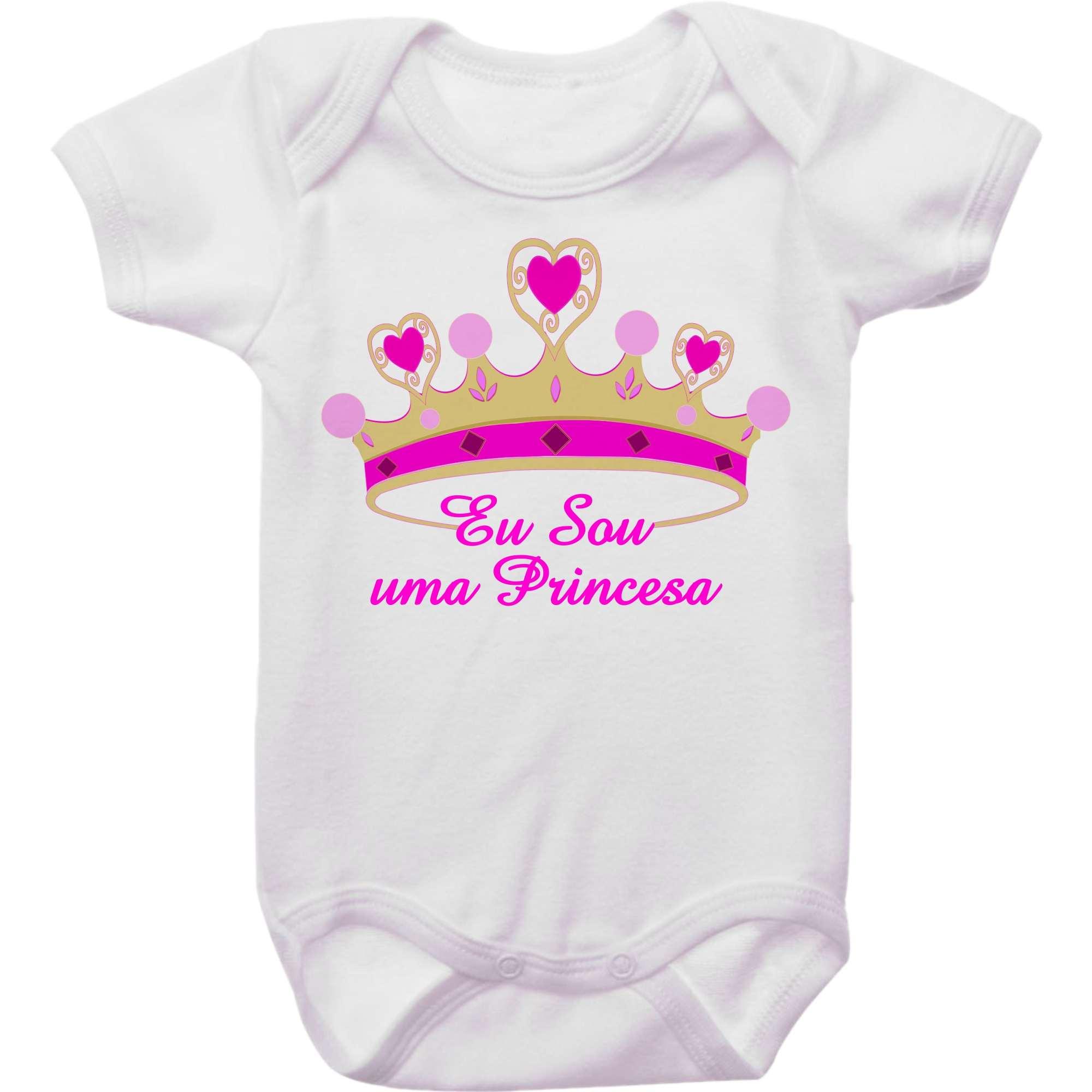 Body Bebê Coroa Eu Sou Uma Princesa