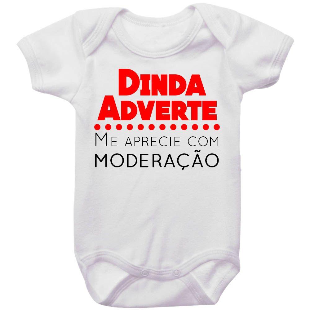 Body Bebê Dinda Adverte Me Aprecie Com Moderação