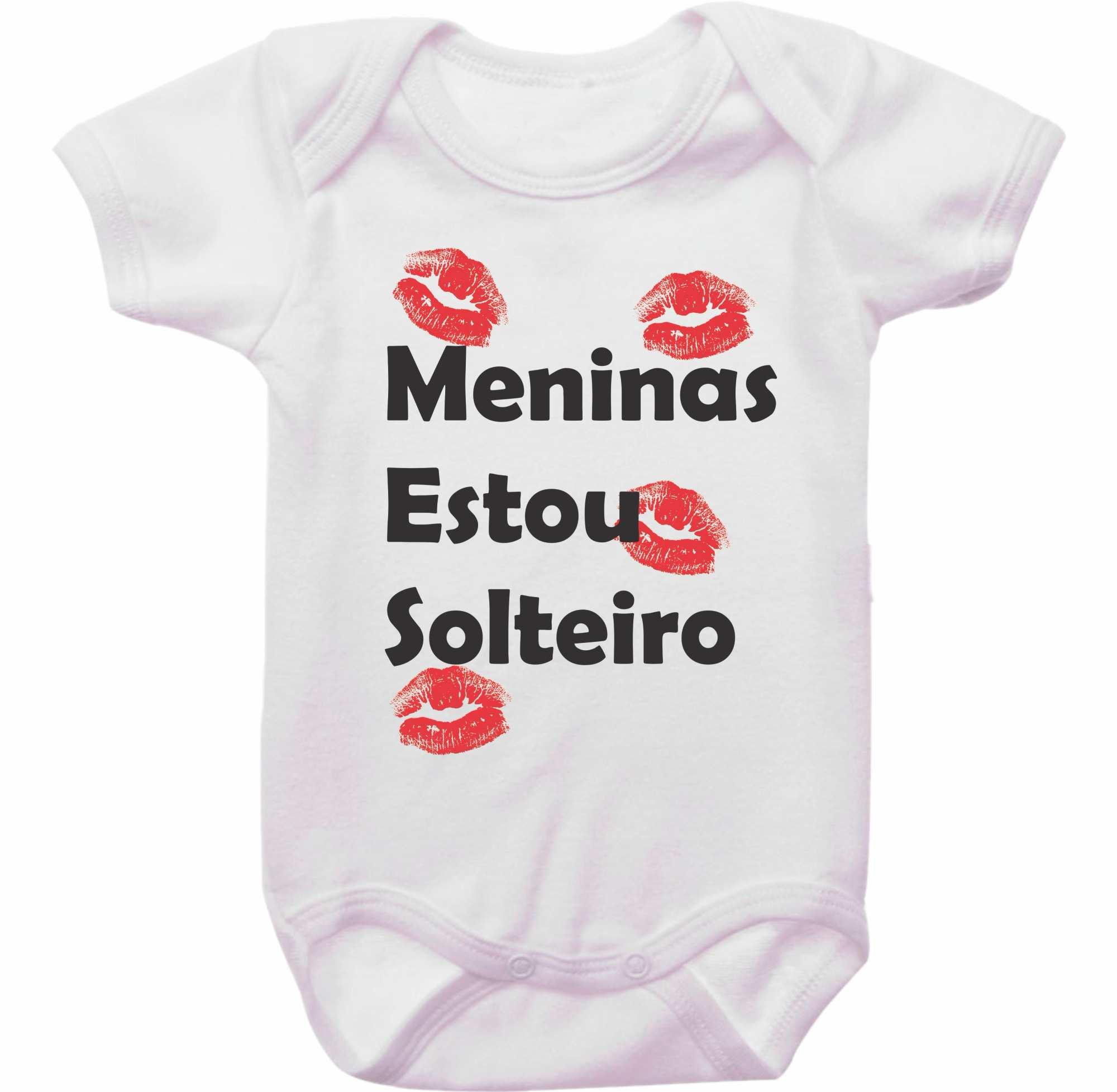 Body Bebê Meninas Estou Solteiro