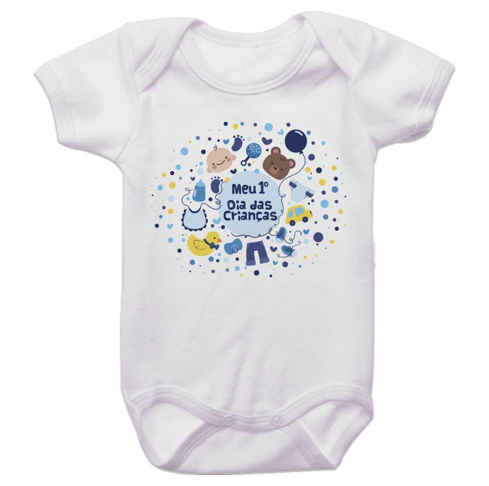 Body Bebê Meu Primeiro Dia Das Crianças Menino