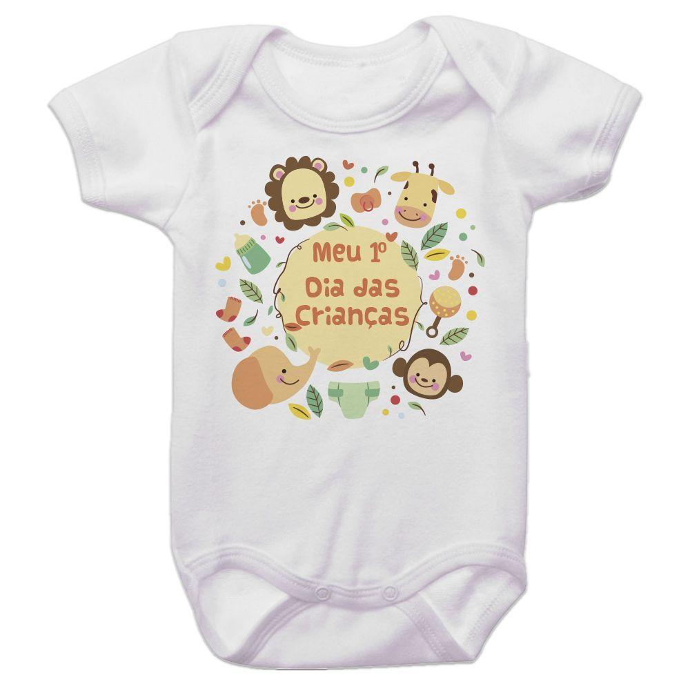 Body Bebê Meu Primeiro Dia Das Crianças Safari