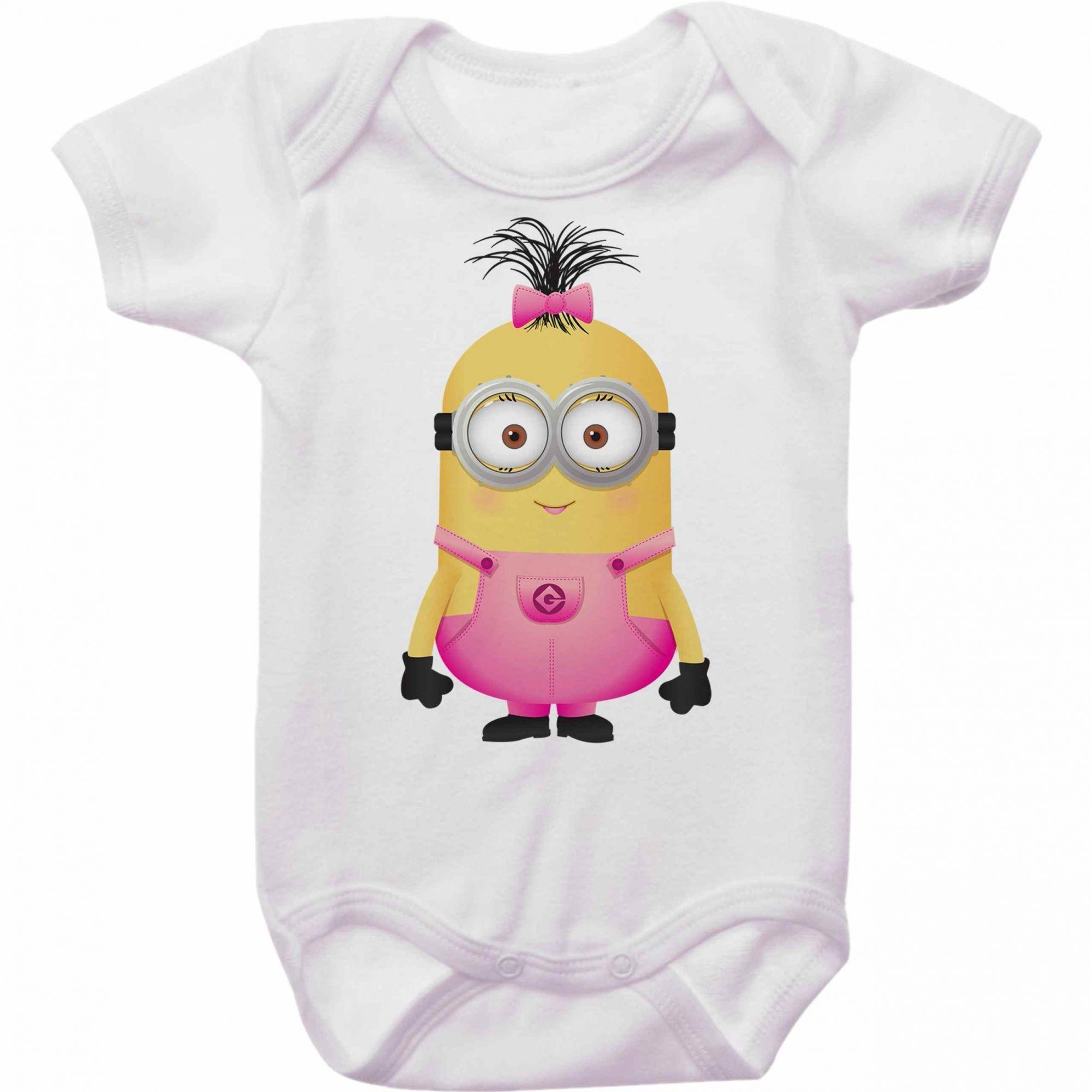 Body Bebê Minions Menina
