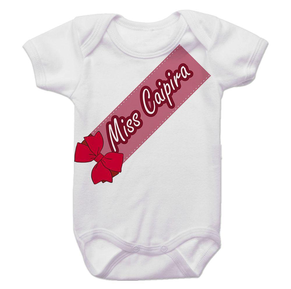 Body Bebê Miss Caipirinha Festa Junina
