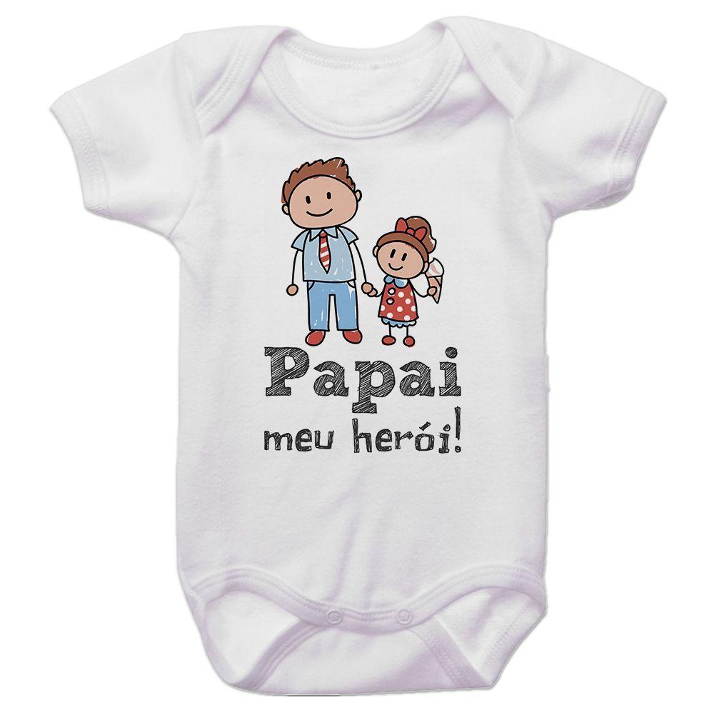 Body Bebê Papai Meu Herói Menina