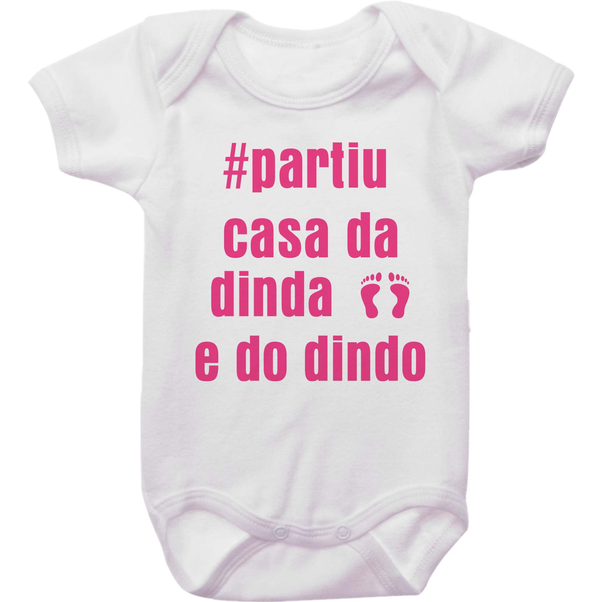 Body Bebê Partiu Casa da Dinda e do Dindo