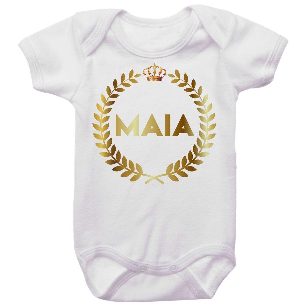 Body Bebê Personalizado Brasão Coroa Dourada