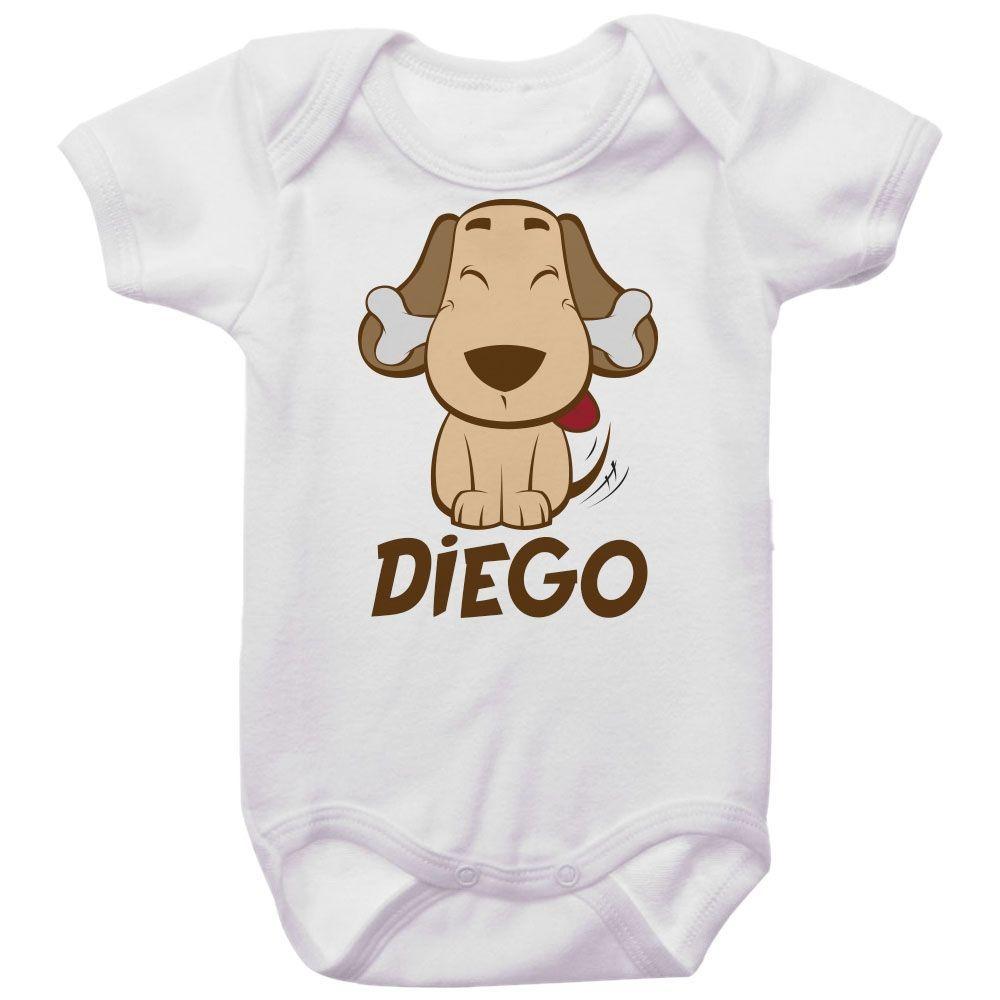 Body Bebê Personalizado Cachorro