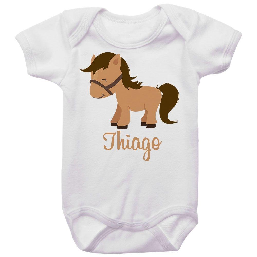 Body Bebê Personalizado Cavalo
