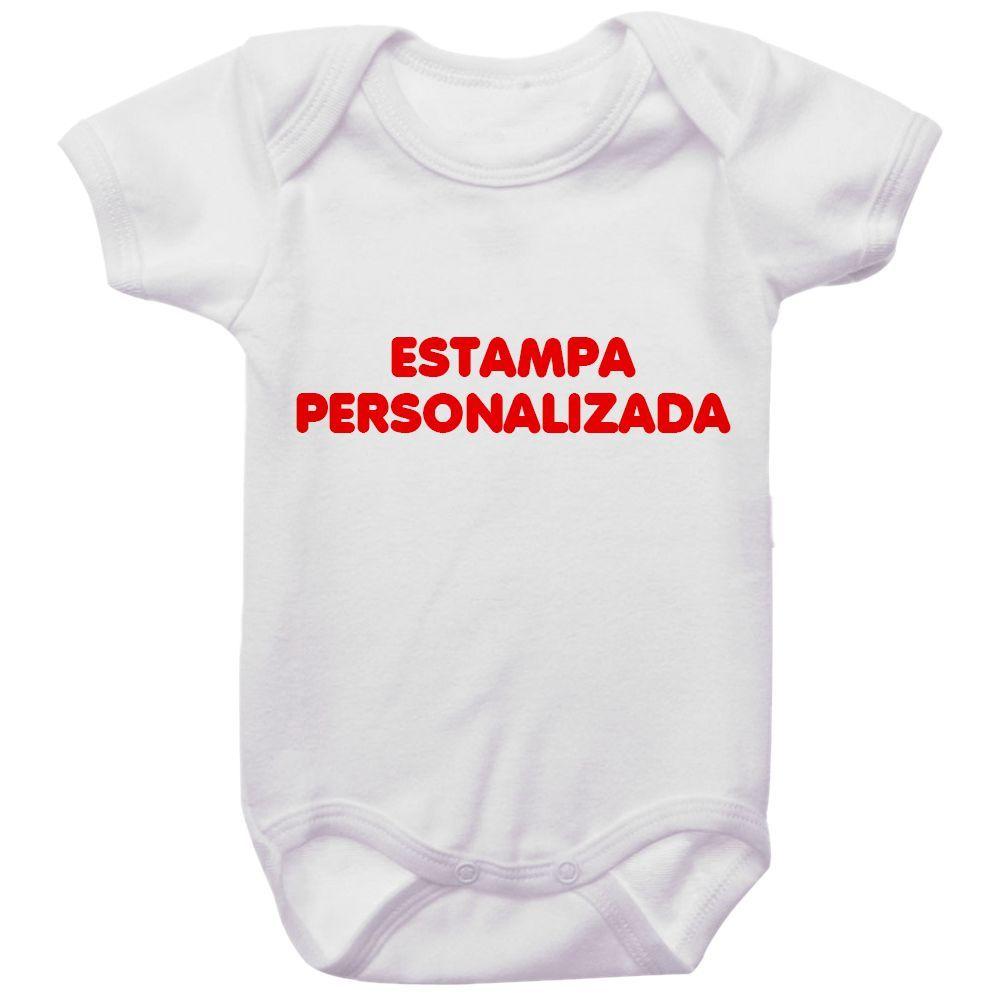 Body Bebê Personalizado Com A Sua Estampa
