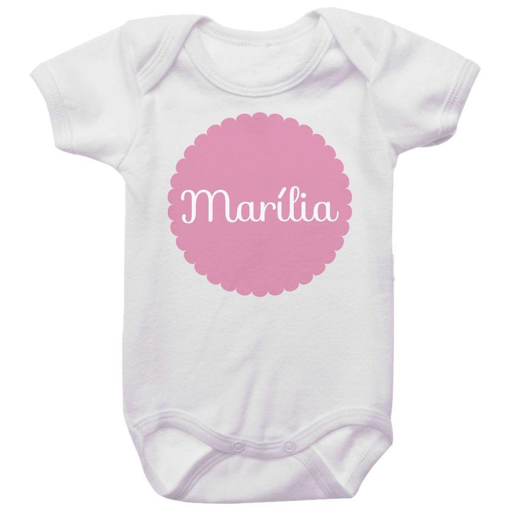 Body Bebê Personalizado Com Nome Menina