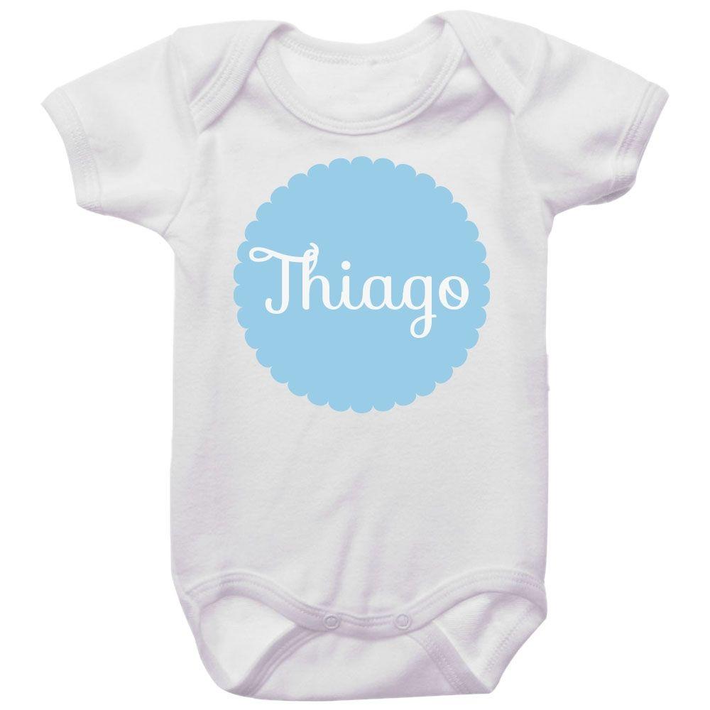 Body Bebê Personalizado Com Nome Menino