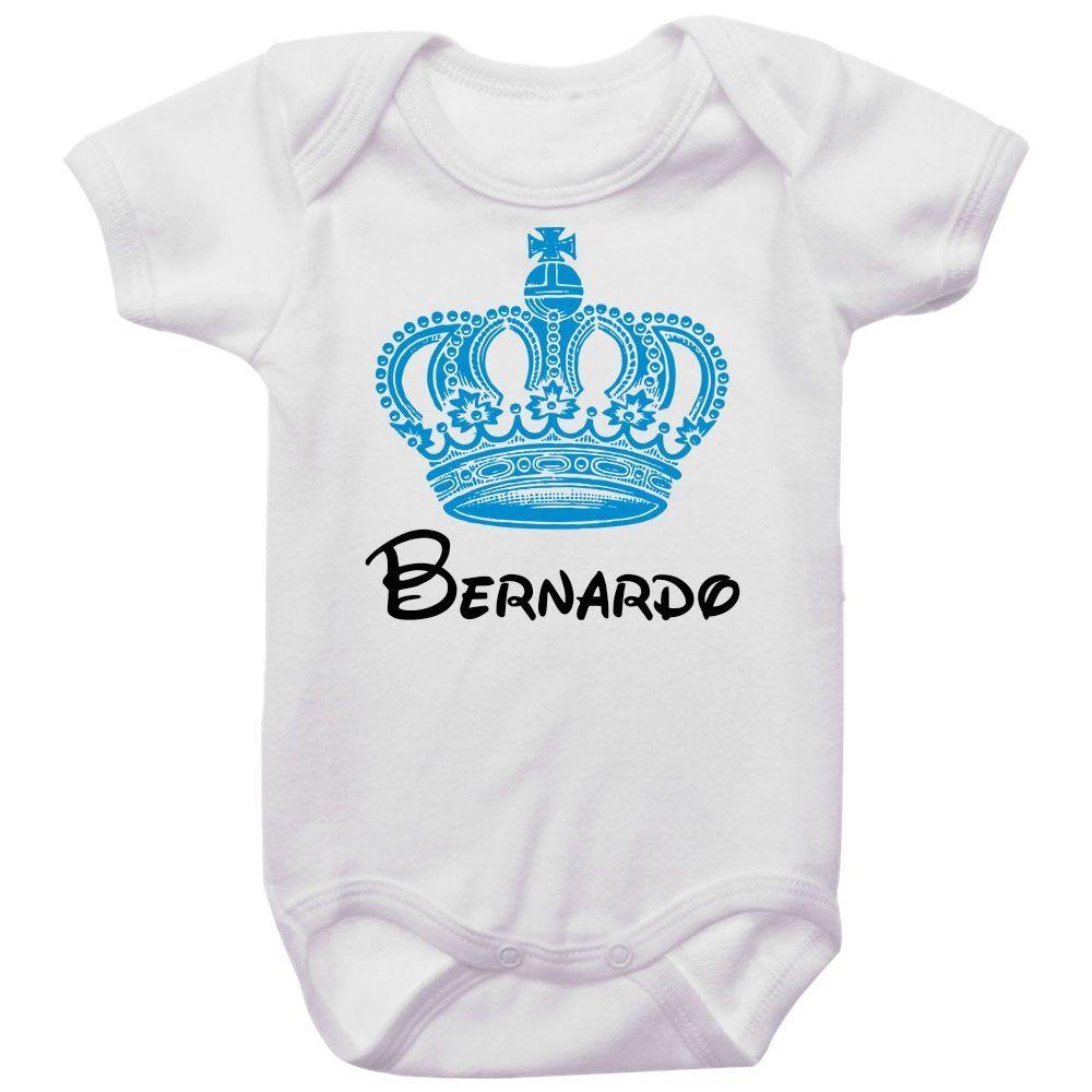 Body Bebê Personalizado Coroa Azul