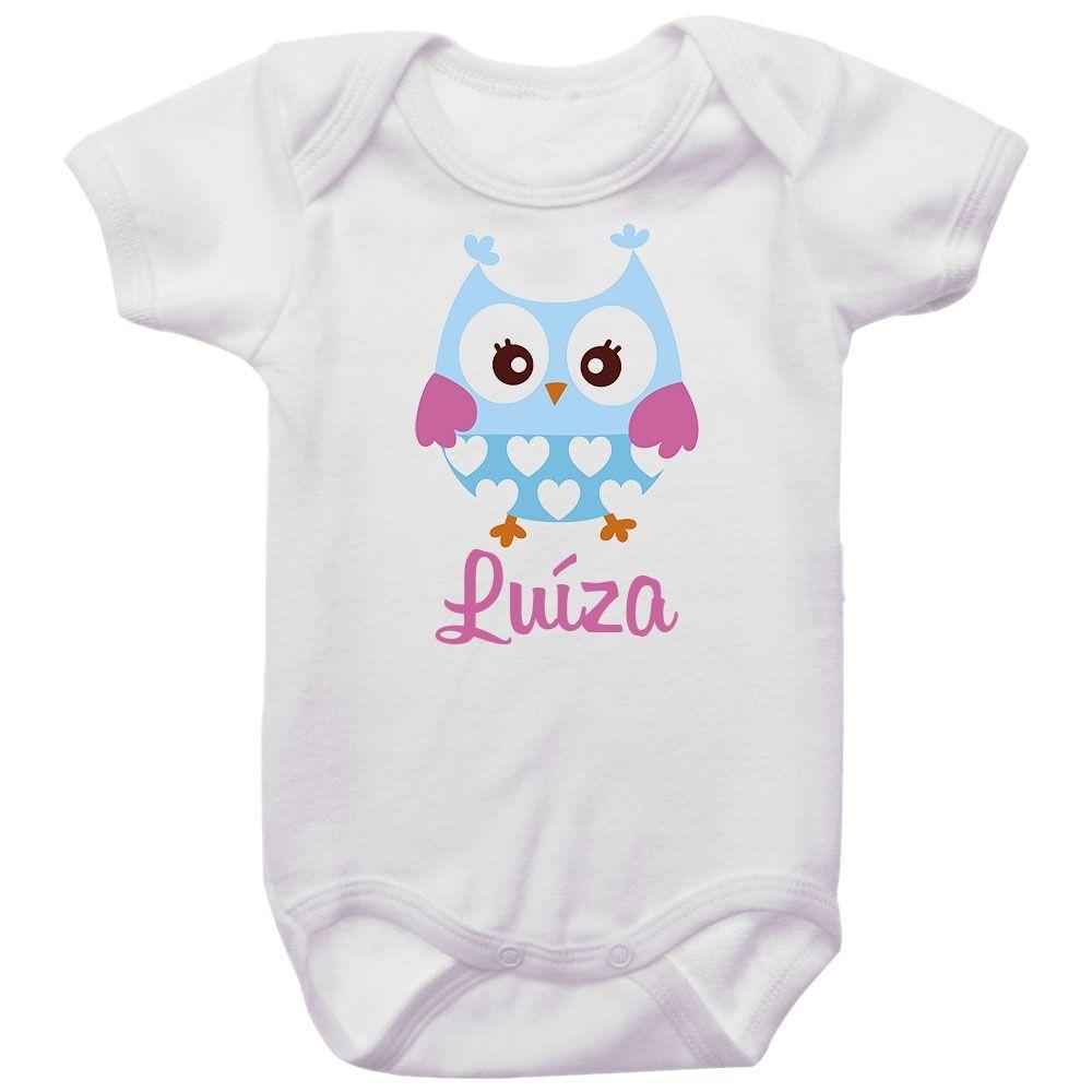 Body Bebê Personalizado Corujinha