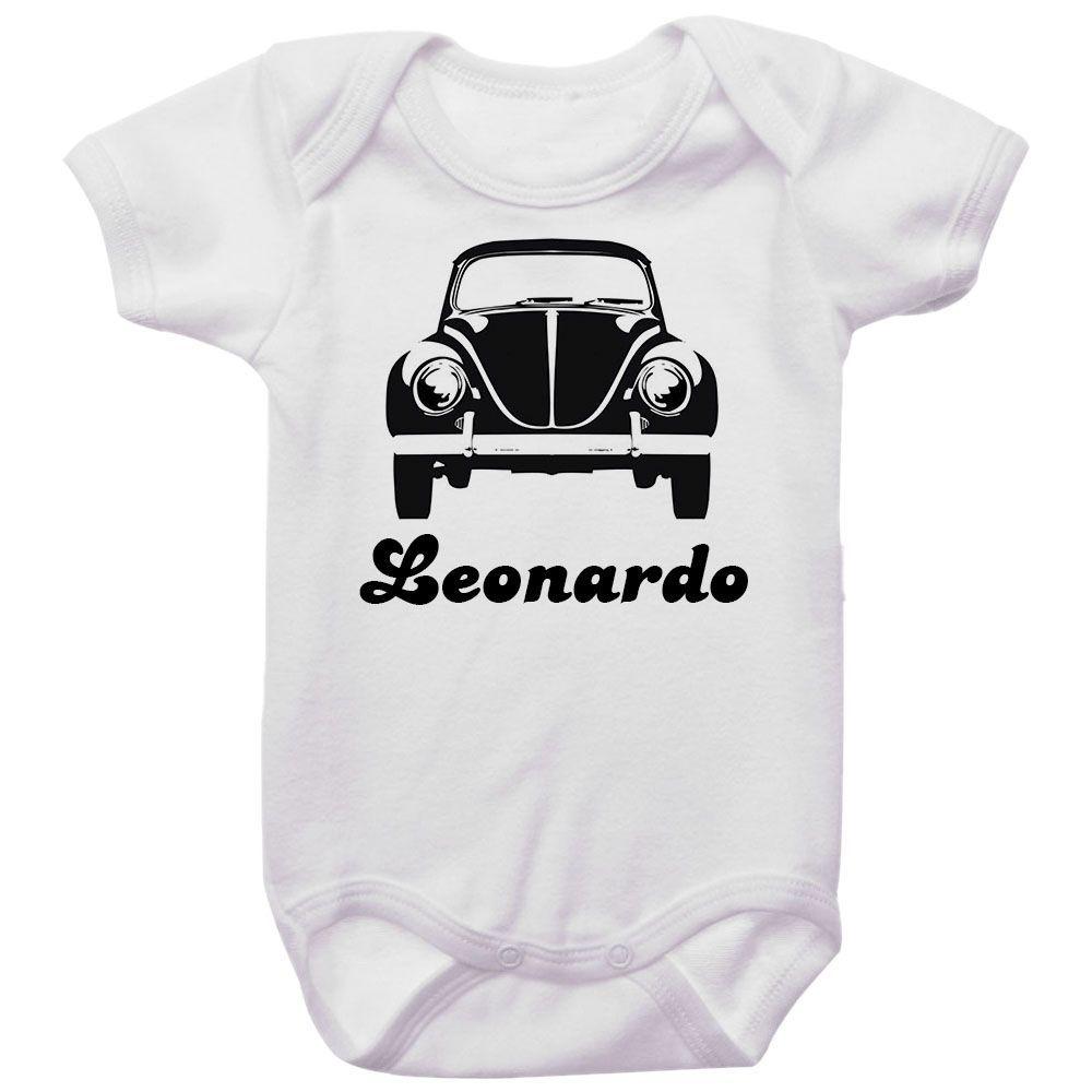 Body Bebê Personalizado Fusca Preto