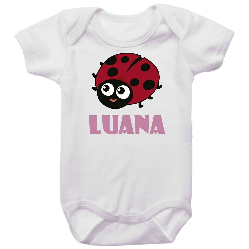 Body Bebê Personalizado Joaninha