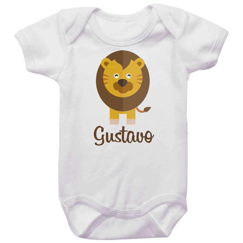 Body Bebê Personalizado Leão