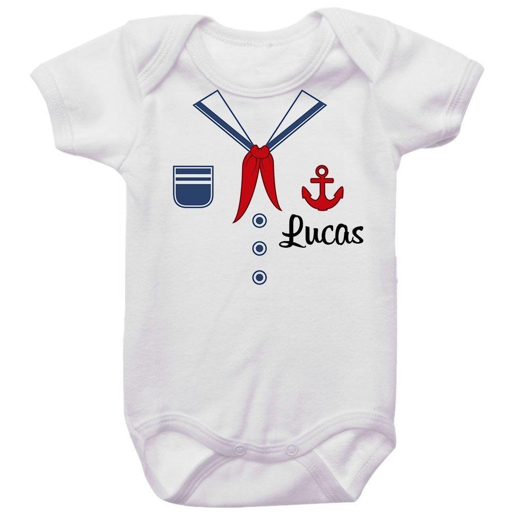 Body Bebê Personalizado Marinheiro