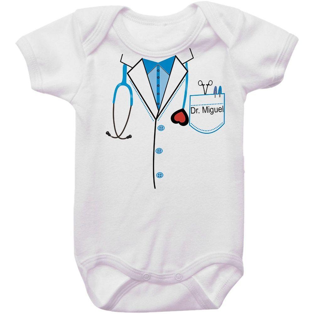 Body Bebê Personalizado Médico