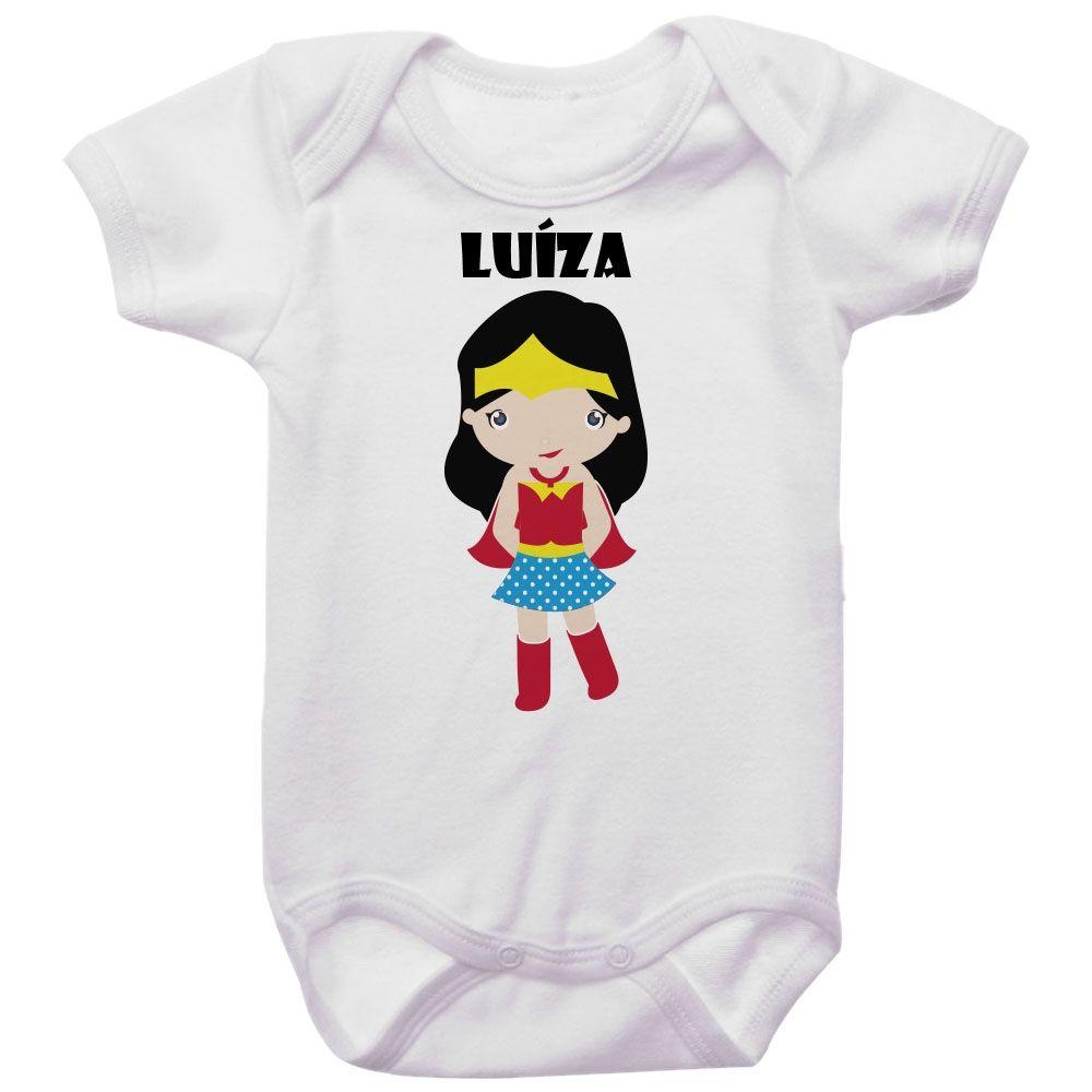 Body Bebê Personalizado Mulher Maravilha