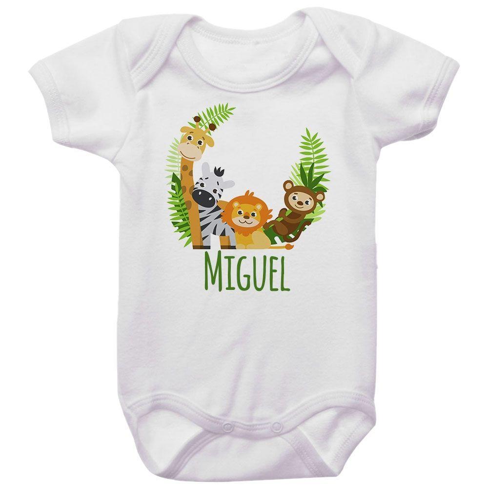 Body Bebê Personalizado Safari