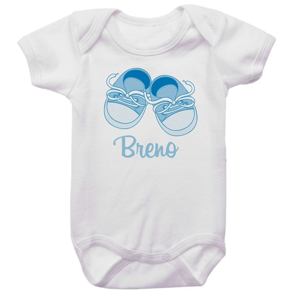 Body Bebê Personalizado Sapatinho Azul