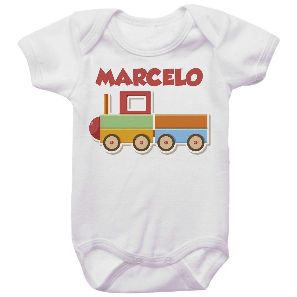 Body Bebê Personalizado Trenzinho