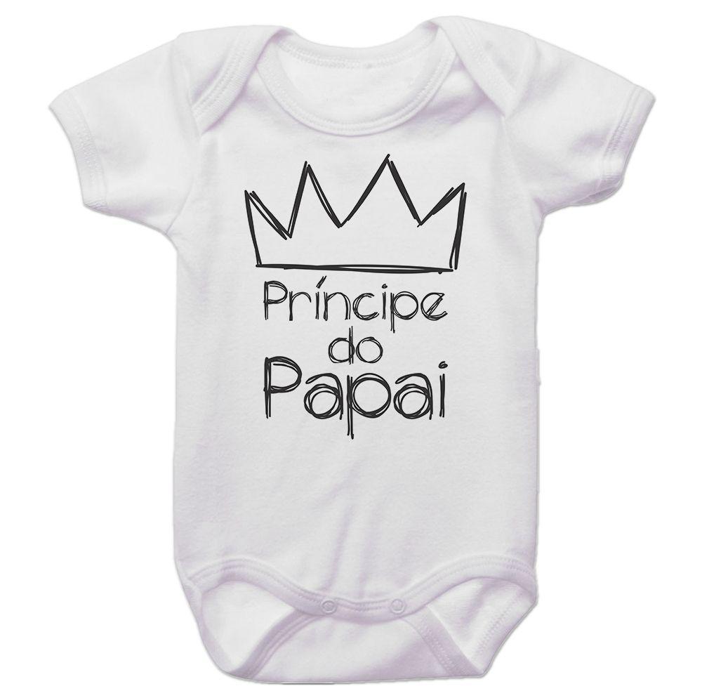 Body Bebê Príncipe do Papai