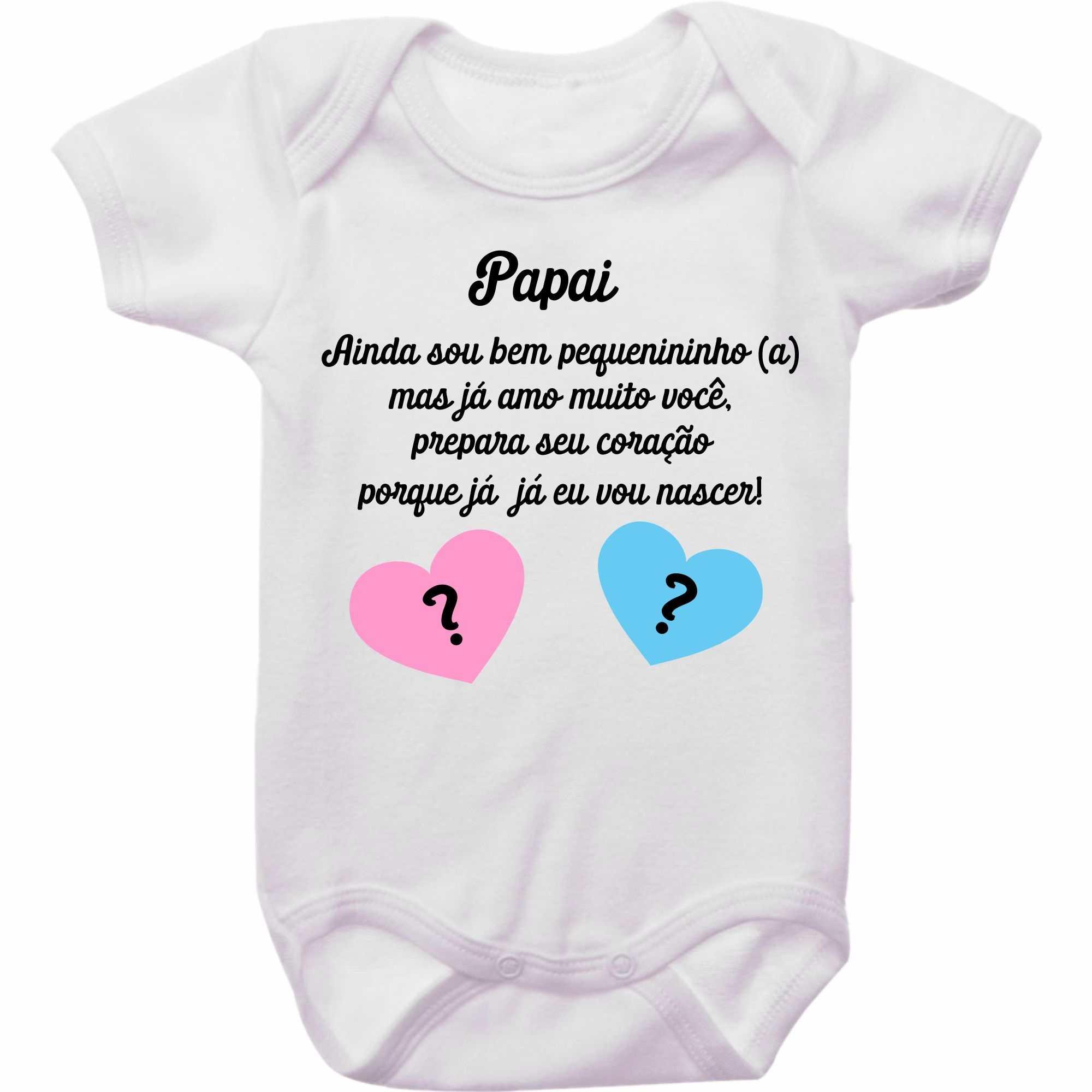 Body Bebê Revelação De Gravidez Para O Papai Empório Camiseteria