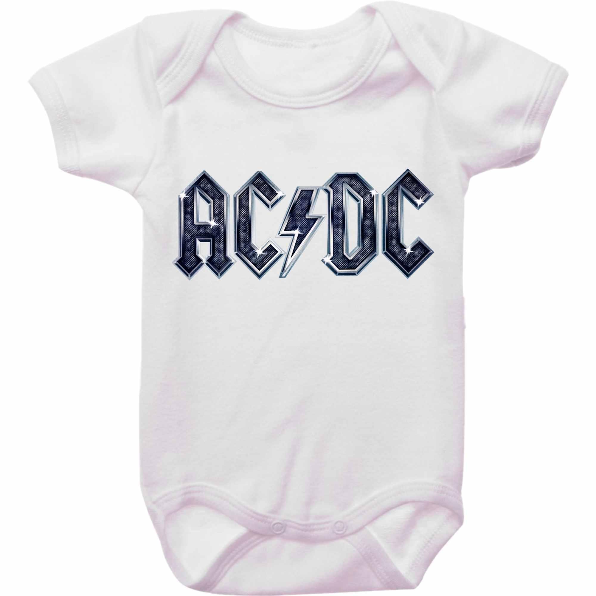Body Bebê Rock ACDC