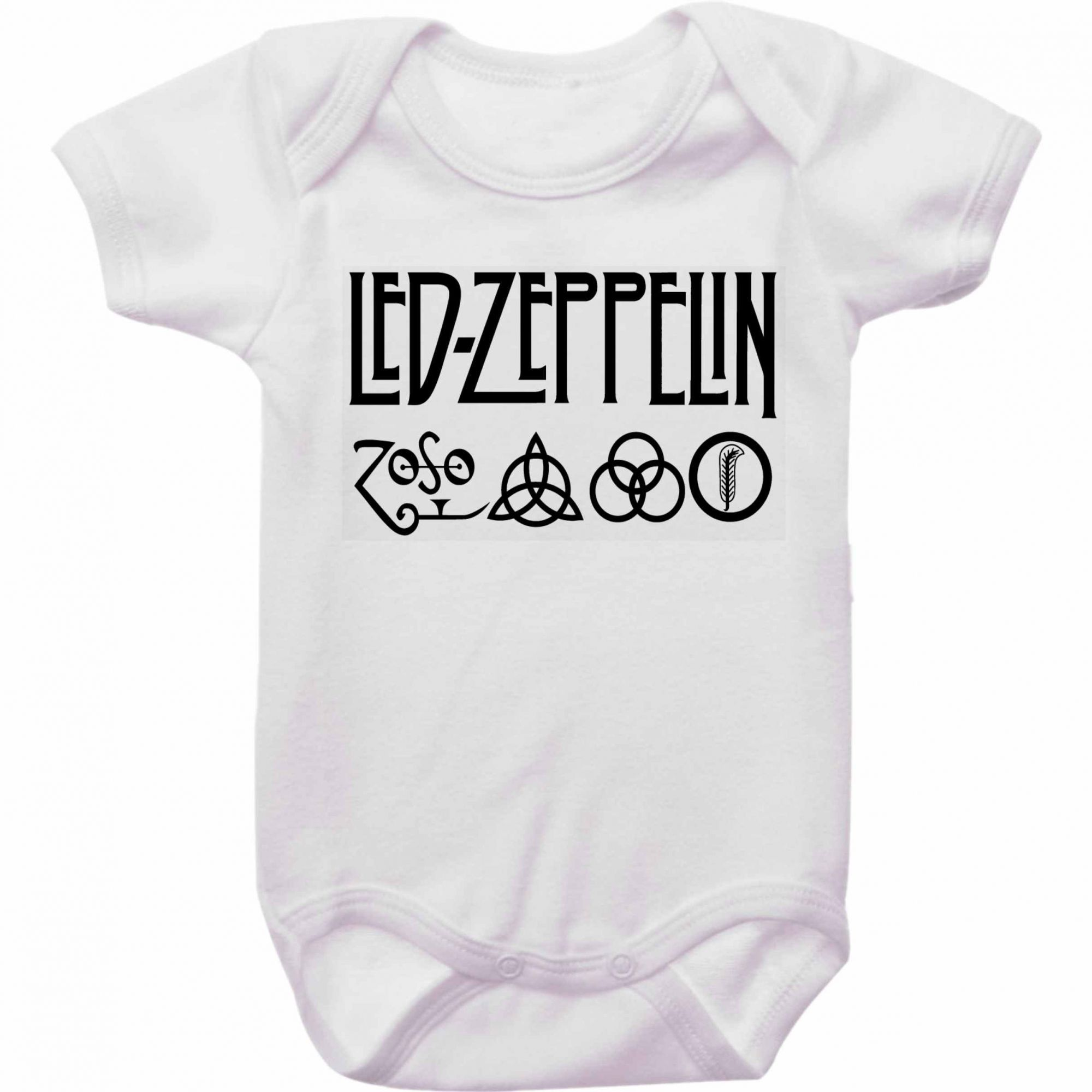 Body Bebê Rock Led Zeppelin