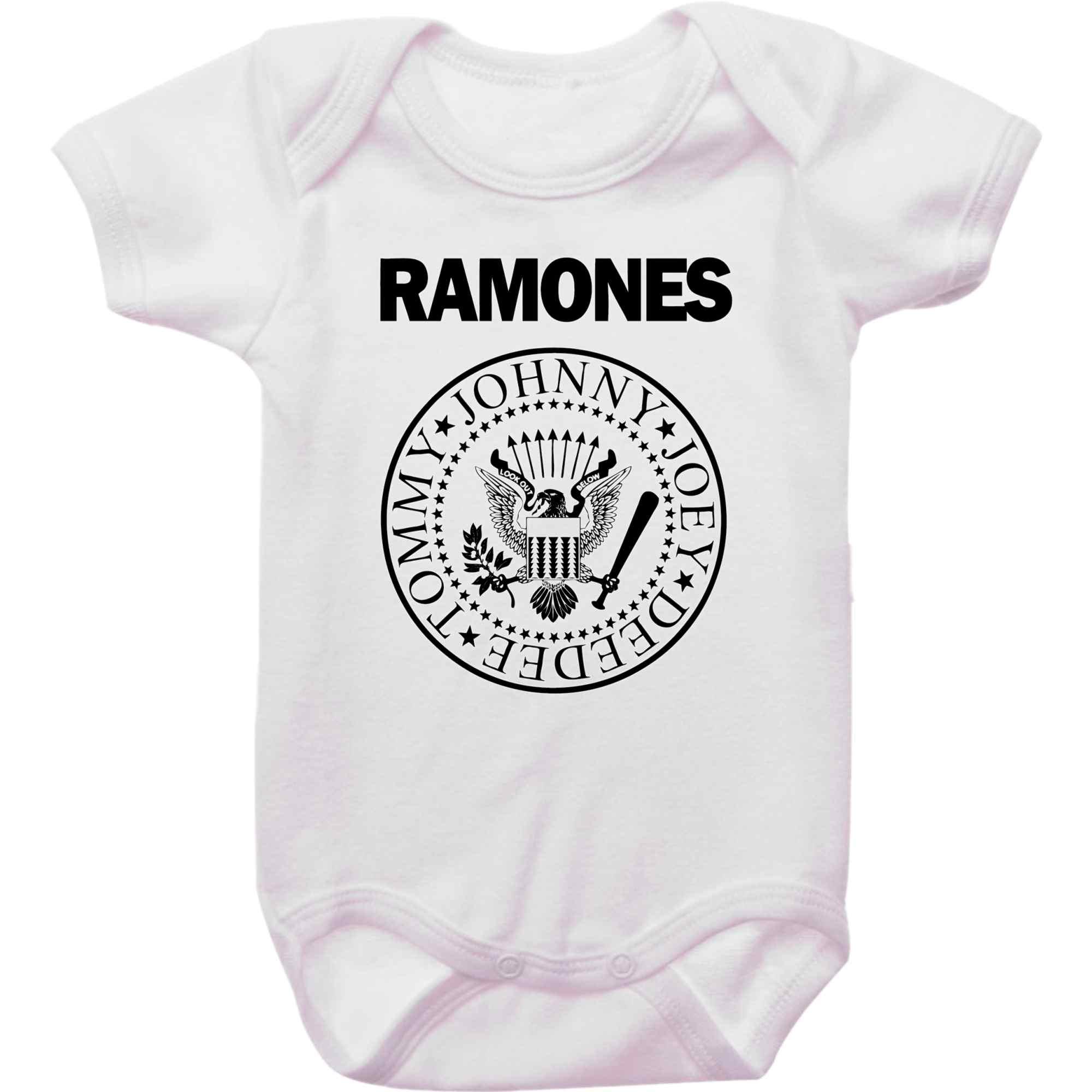 Body Bebê Rock Ramones - Empório Camiseteria 8eb6d821d45
