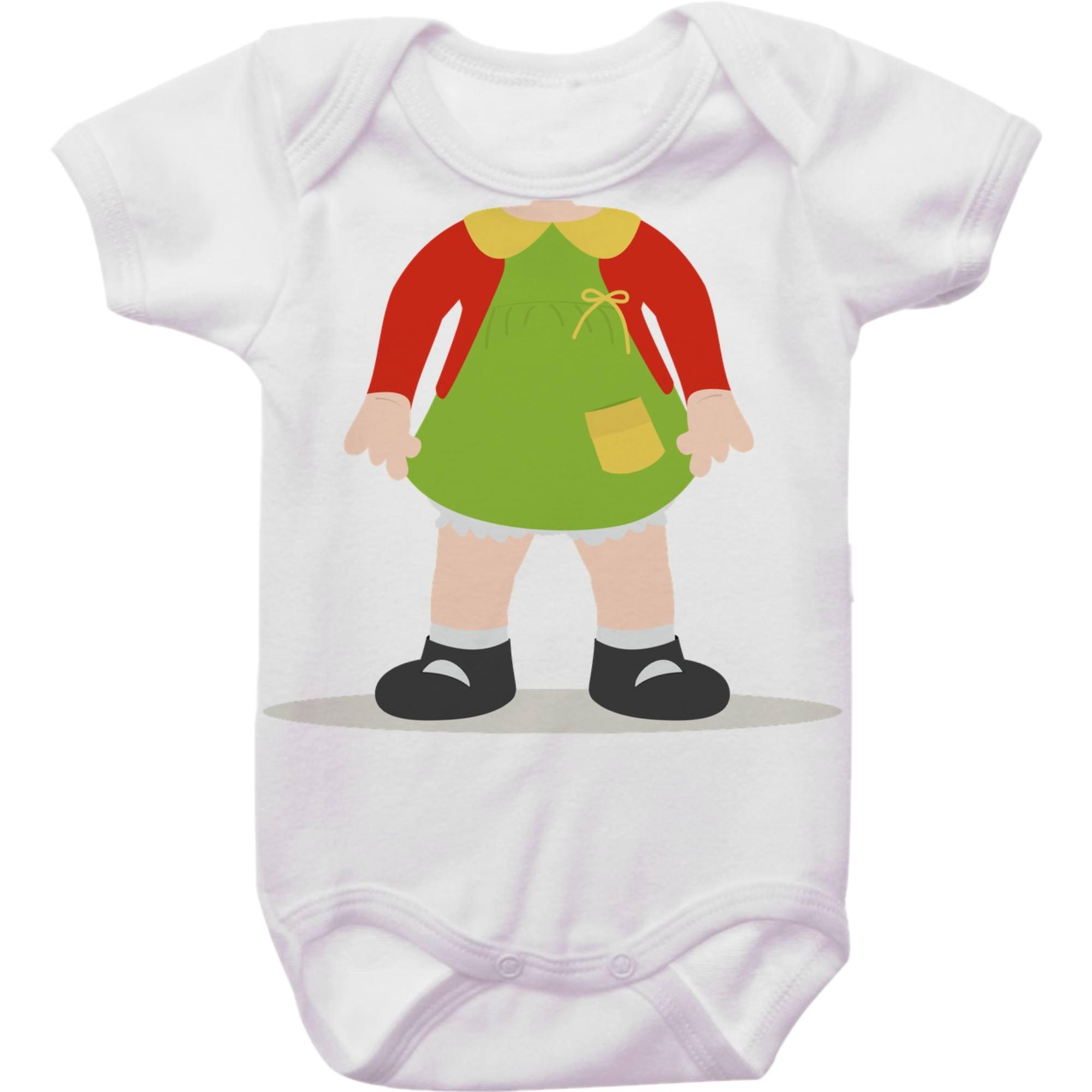 Body Bebê Turma do Chaves - Chiquinha