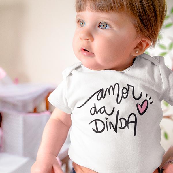Body de Bebê Amor da Dinda - CA1244