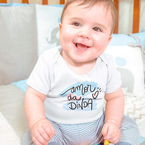 Body de Bebê Amor da Dinda - CA1249
