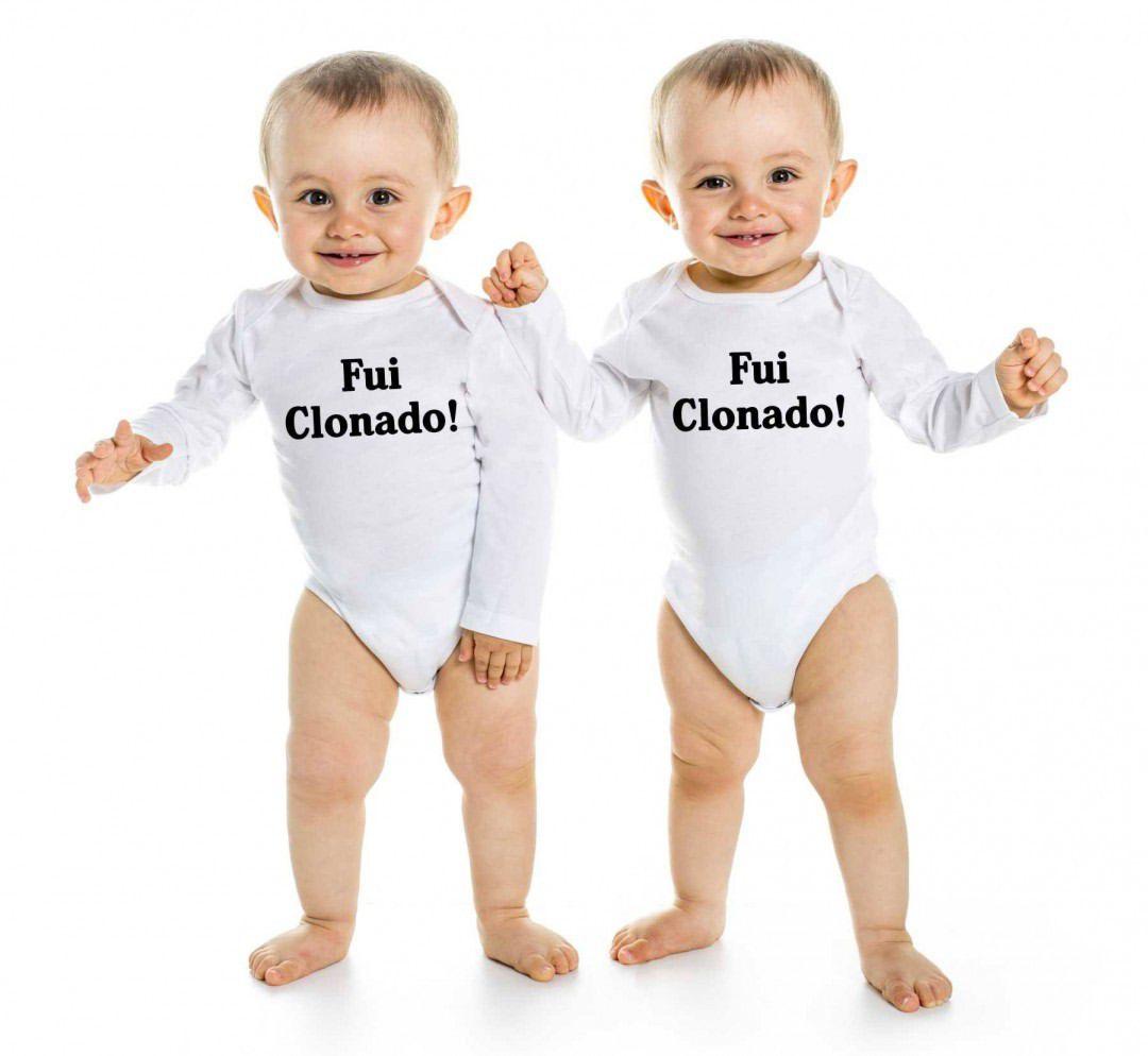 Body de Bebê Gêmeos Diverto Fui Clonado BO0214