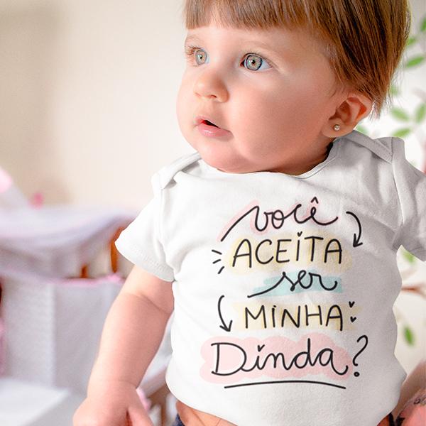 Body de Bebê Você Aceita Ser Minha Dinda - CA1247