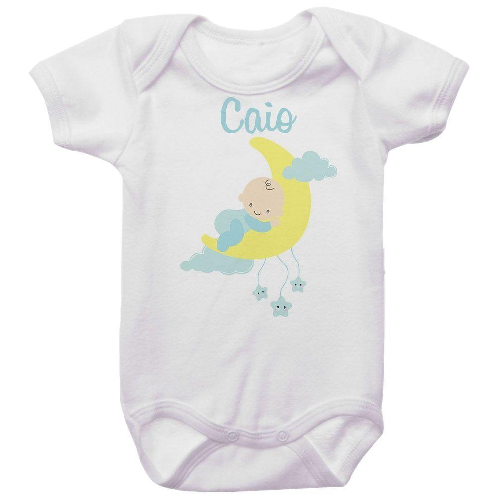 Body  Personalizado Bebê na Lua Menino