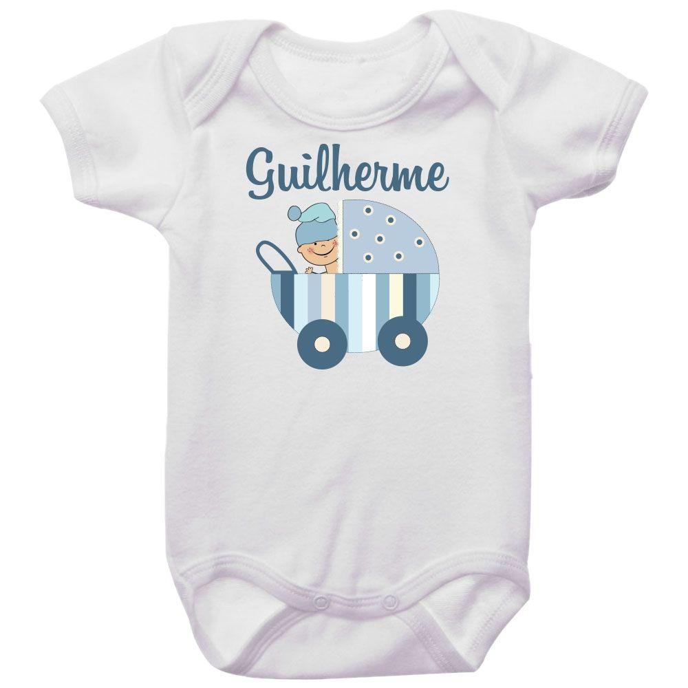 Body Personalizado Carrinho de Bebê Menino