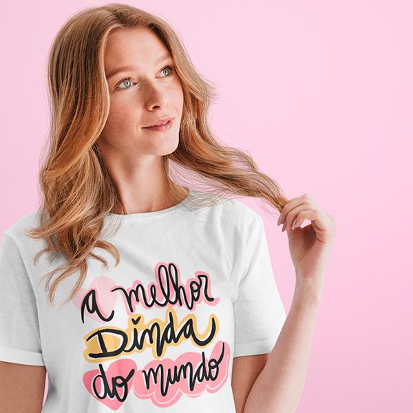 Camiseta A Melhor Dinda do Mundo - CA1258
