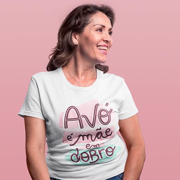Camiseta Avó é Mãe em Dobro - CA1180