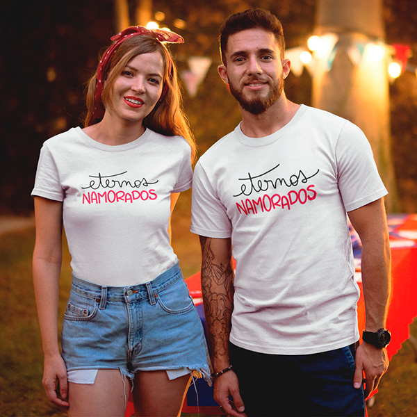 Camiseta Casal Eternos Namorados - CA1297