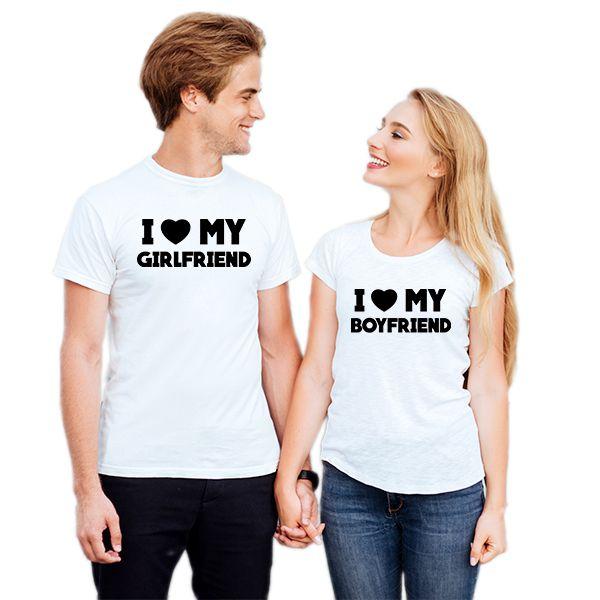 Camiseta Casal I Love Girlfriend CA0736