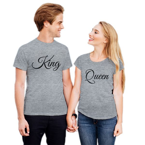 Camiseta Casal King Queen CA0734