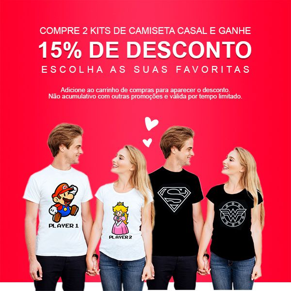 Camiseta Casal Mickey e Minnie CA0833